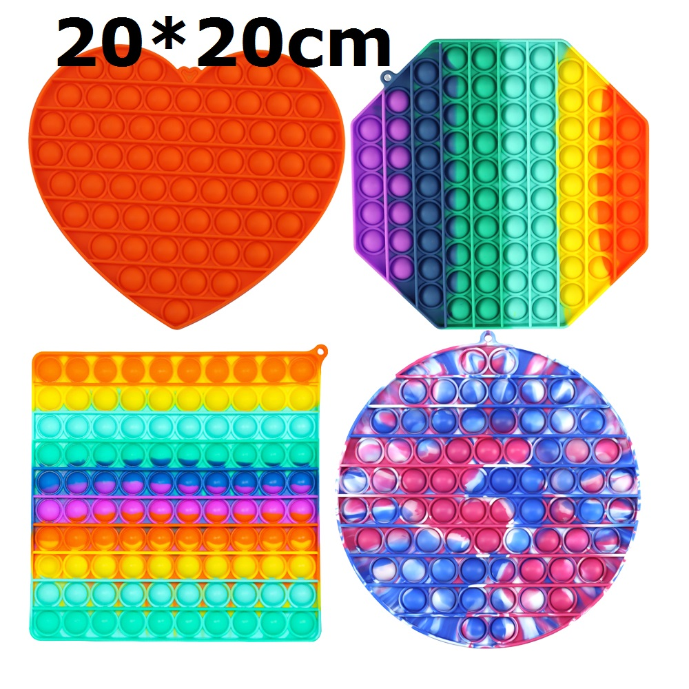Fidget-Toys Antistress-Toy Bubble Square Figet Squishy Sensory Rainbow-Push Popsits Big-Size