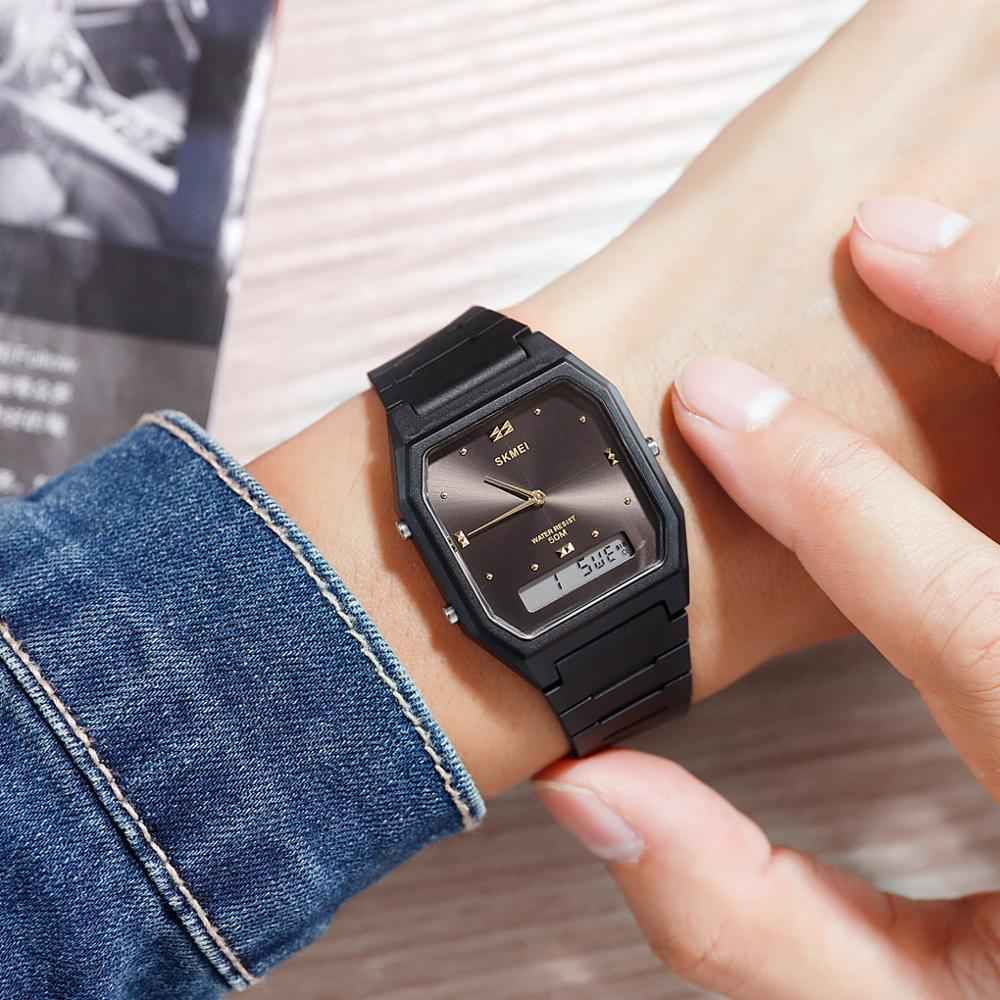 Fashion Men's Watches Electronic Watch Brand SKMEI Wrist Watch Simple Design Dial Double Time Digital Watch For Men Women