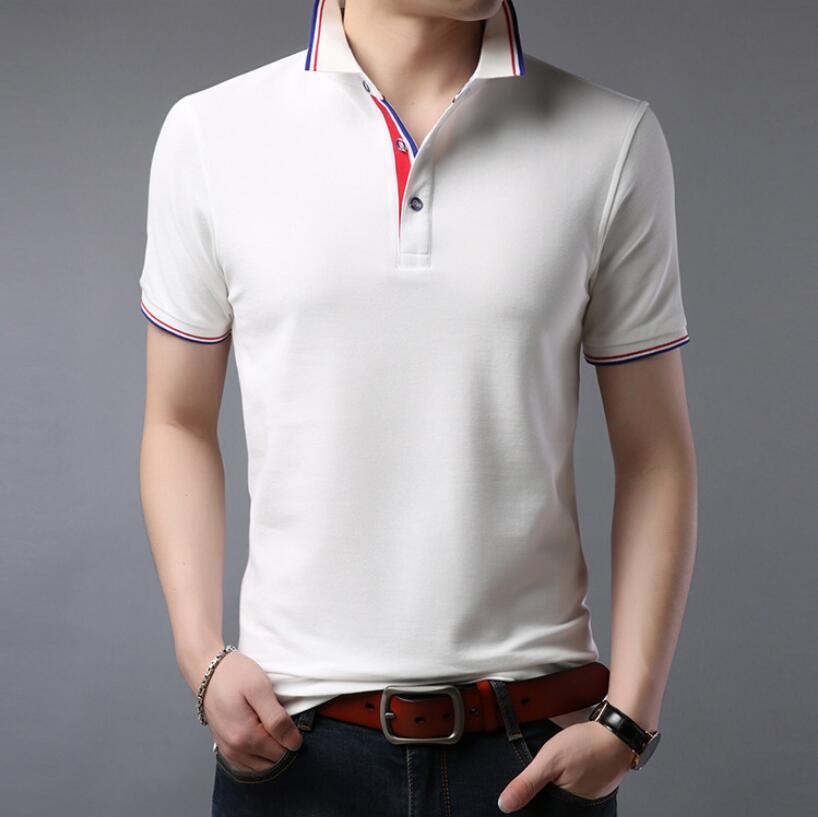 2019 New LJ127 Summer Men   Polos   Shirt Clothing Pure Cotton Men Business Casual Male   Polo   Shirt Short Sleeve Breathable Shirt