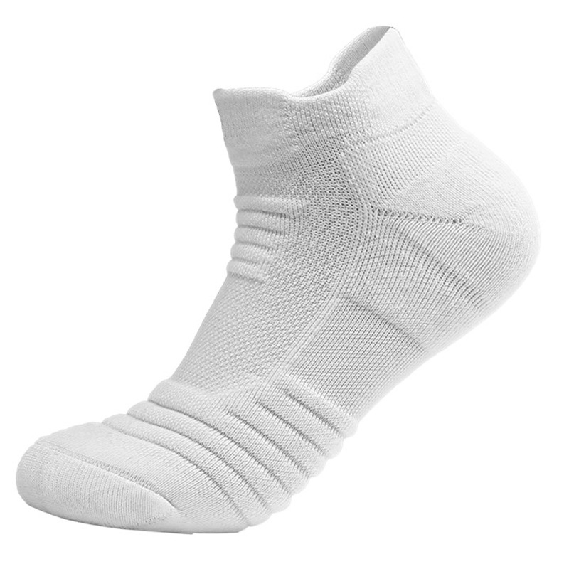 Men's 3 Pairs Sports Towel Thick Basketball Sock Ankle Terry Winter Warm Men Large Size 46,50 Cotton Short Men White Ankle Socks