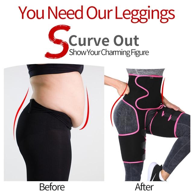 Neoprene Sweat Slim Thigh Trimmer Waist Trainer Leg Shapers Slender Slimming Belt Shapewear Muscles Band Weight Loss Body Shaper 2