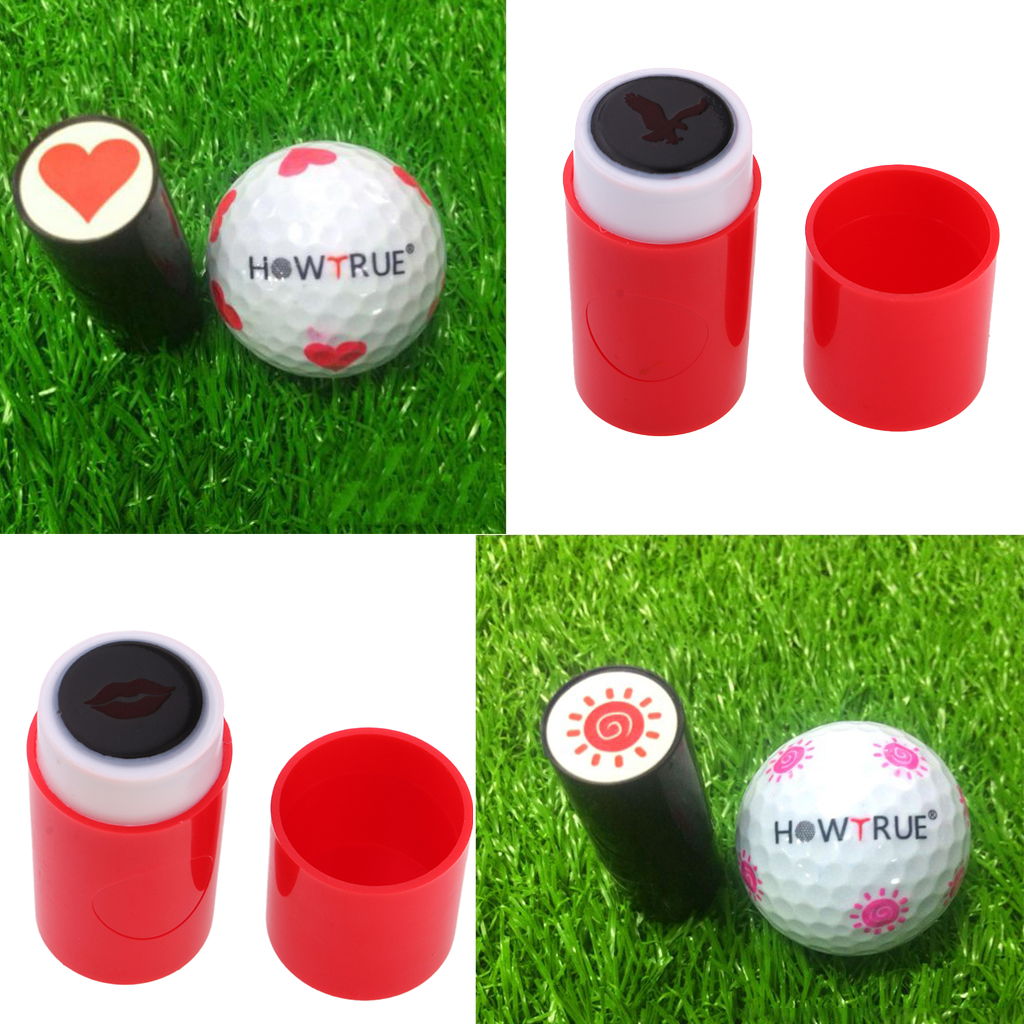 4x Colorfast Quick-dry Golf Ball Stamp Stamper Marker Eagle Sun Heart Eagle