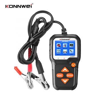 KONNWEI KW650 тестер автомобильного аккумулятора 6-16 В Вход 100-2000 CCA цветной экран дисплей Автомобильная диагностика нагрузки инструмент для обнар...