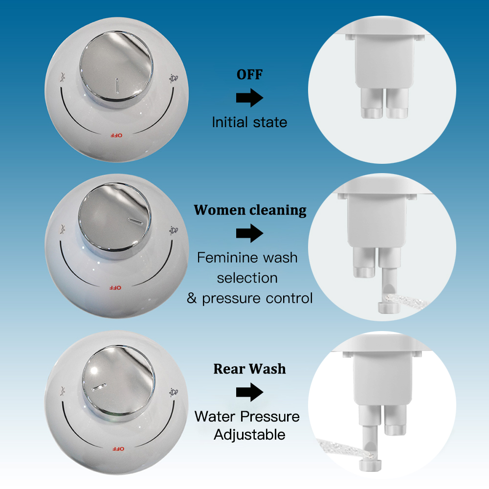 SOOSI Ultra Thin Non Electric Bidet Toilet Seat Bidet Dual Nozzle Bidet Sprayer Fresh Cold Water Personal Hygiene Easy Install 3