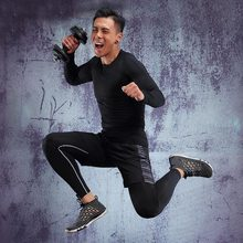 Running-Clothing-Sets Joggers-Training-Suit Sport-Settings Gym Compression Fitness Men's