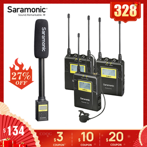 Image 1 - Saramonic UWMIC9 Broadcast UHF Camera Wireless Lavalier Microphone System Transmitters +One Receiver for DSLR Camcorder
