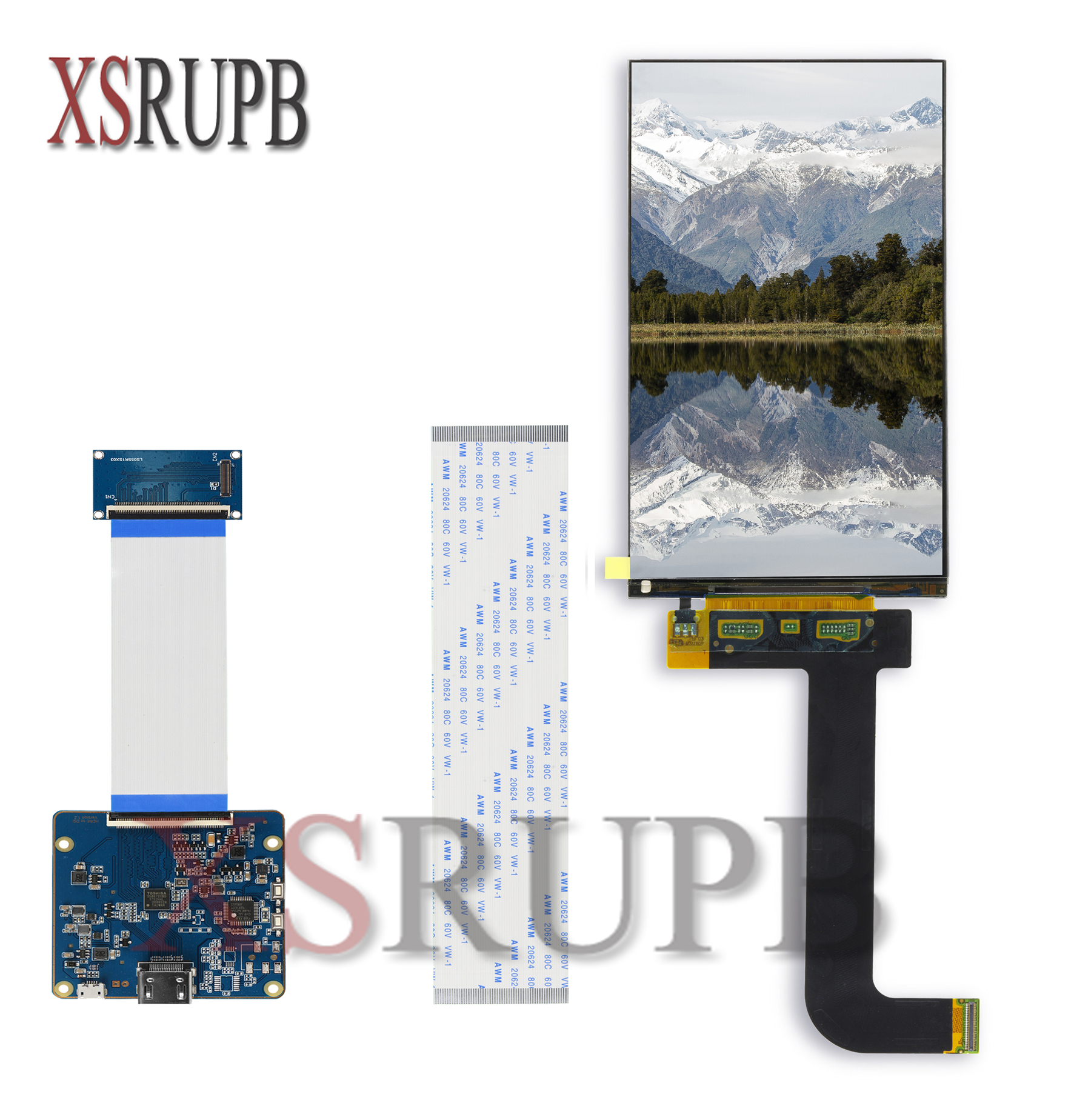 LS055R1SX03 5.5 <font><b>inch</b></font> 2k <font><b>LCD</b></font> module 2560*1440 <font><b>LCD</b></font> screen <font><b>display</b></font> with <font><b>HDMI</b></font> to MIPI controller board for WANHAO D7 replacement image