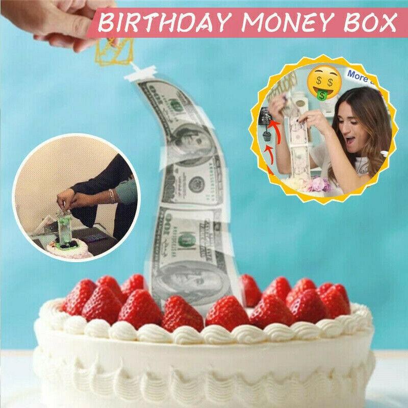 Копилка для торта ATM, топпер для торта «С Днем Рождения», коробка для забавного торта с днем рождения 2020, вечерние принадлежности