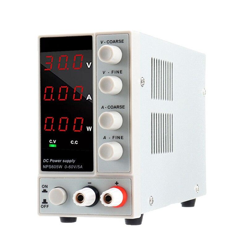 NPS605W 110V/220V 0-60V 0-5A Adjustable Digital DC Power Supply 300W Regulated Laboratory Switching Power Supply Voltage Current