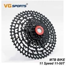 VG Sports 11 Speed MTB Cassette 11-50T Black Freewheel Ratio Sprocket 11S Mountain Bike Bicycle Flywheel For Shimano