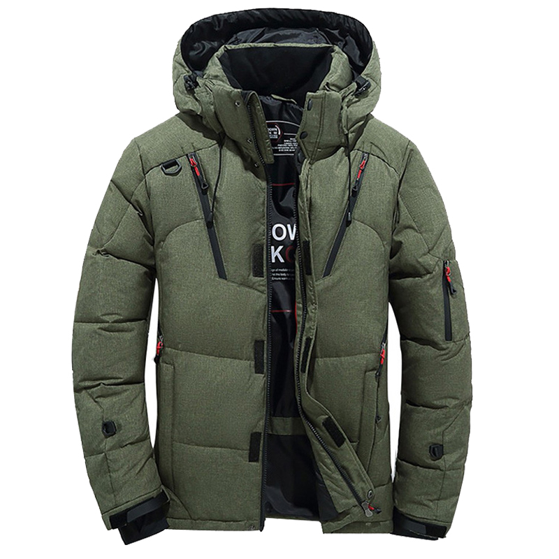 Men's Winter Thicken Warm Down Jacket Men Casual Snow Parkas Overcoat White Duck Down Hooded Coat Male Windbreaker Jacket M-4XL