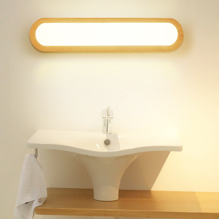 Creative Solid Wood Wall Lamp Modern Simple Bedroom Bedside Nordic  Foyer Study Bathroom Aisle Square Led Mirror Cabinet Light|LED Indoor Wall Lamps| |  -