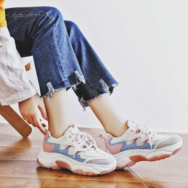 Women's Shoes Sports Shoes For Women Platform Woman Sneakers Wear Resistant 2020 New Brand Casual Woman Tennis