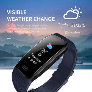 Image 3 - Lerbyee reloj inteligente T5 para hombre y mujer, reloj inteligente deportivo resistente al agua, con temperatura corporal, recordatorio de llamadas y Modo deportivo, 2020