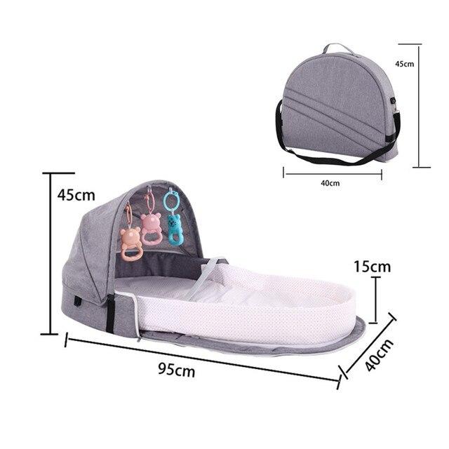 2019 nuevo bebé de viaje portátil cuna bebé nido niño suministros recién nacido multifunción cama plegable silla cama portátil 1