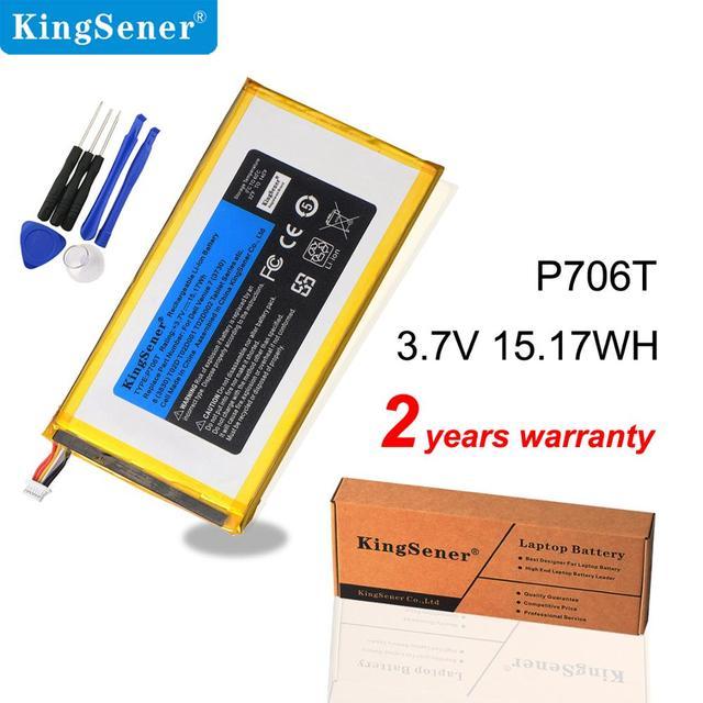 Kingsener P706T Nieuwe Tablet Batterij Voor Dell Venue 7 3730 Venue 8 3830 T02D T01C T02D002 T02D001 0CJP38 02 Pdjw 3.7 V 15.17wh
