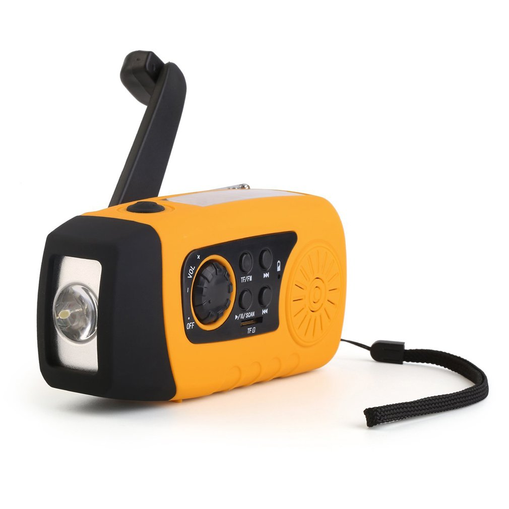 Portable Outdoor Rechargeable Flashlight MP3 Audio Music Player FM Radio Flashlight Loudspeaker