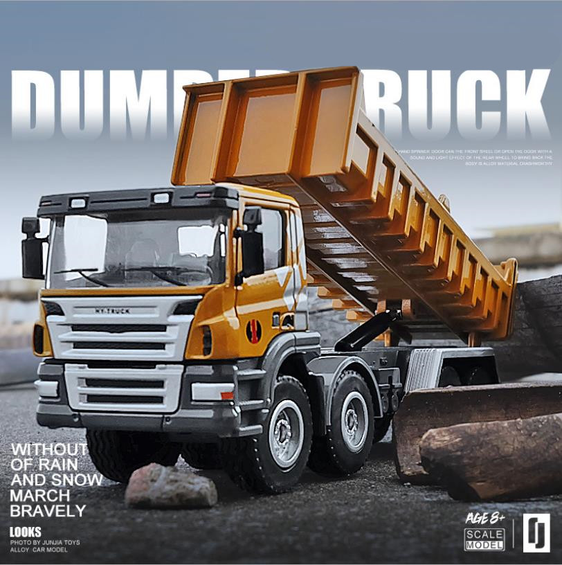 Hot Sale 1:50 Alloy Truck Dump Truck Model,site Dump Truck Transport Car Model,wholesale Toys,free Shipping