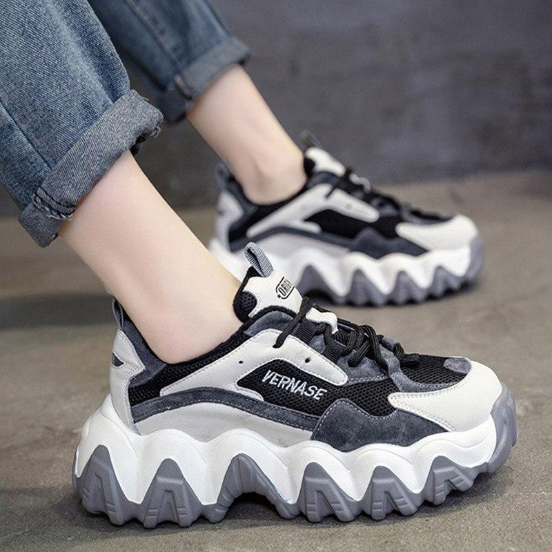 Women Chunky Sneakers Spring Autumn Platform Shoes Woman Sneaker Women Vulcanize Shoes Fashion Trainers Dad Shoes Tenis Feminino