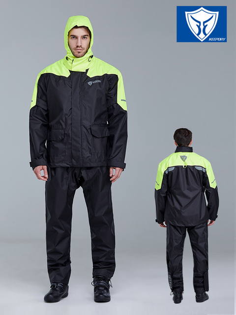 Nylon Waterproof Men Motorcycle Raincoat Rain Pants Suit Adults Rain Jacket Thickened Rain Coat Mens Sports Suits Hiking Gift 1