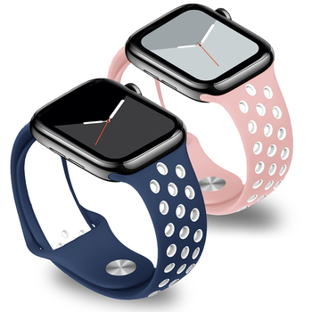 цена на Soft Silicone Replacement Sport Band For Apple Watch 38mm 40mm Series 1 2 3 4 5 42mm 44mm Wrist Bracelet Strap For iWatch Sports