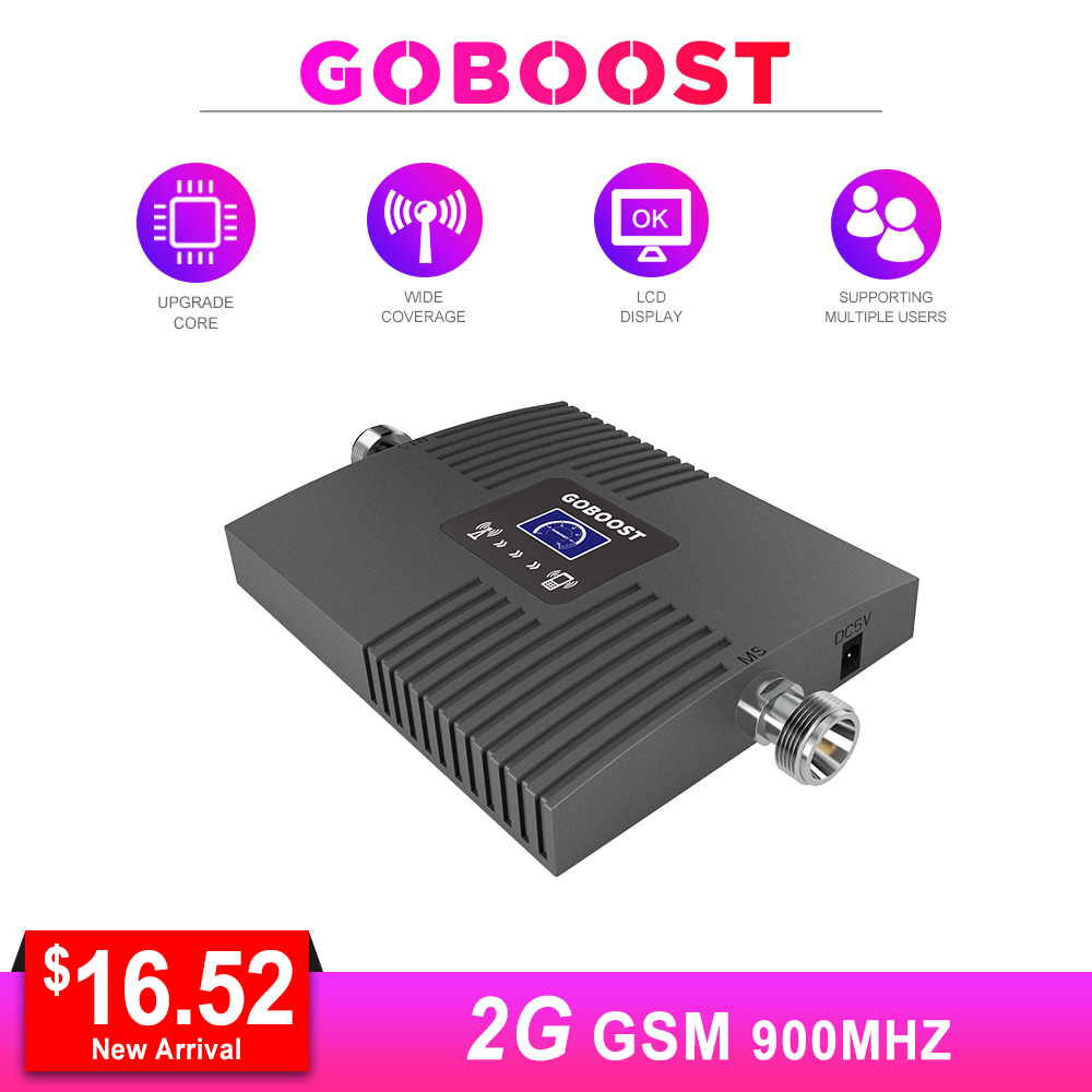 GSM Repeater 2G Cellular Signal Booster LCD Display Mini GSM Repeater Signal 65dB  GSM 900MHZ For Mobile Phones Amplifier NEW *