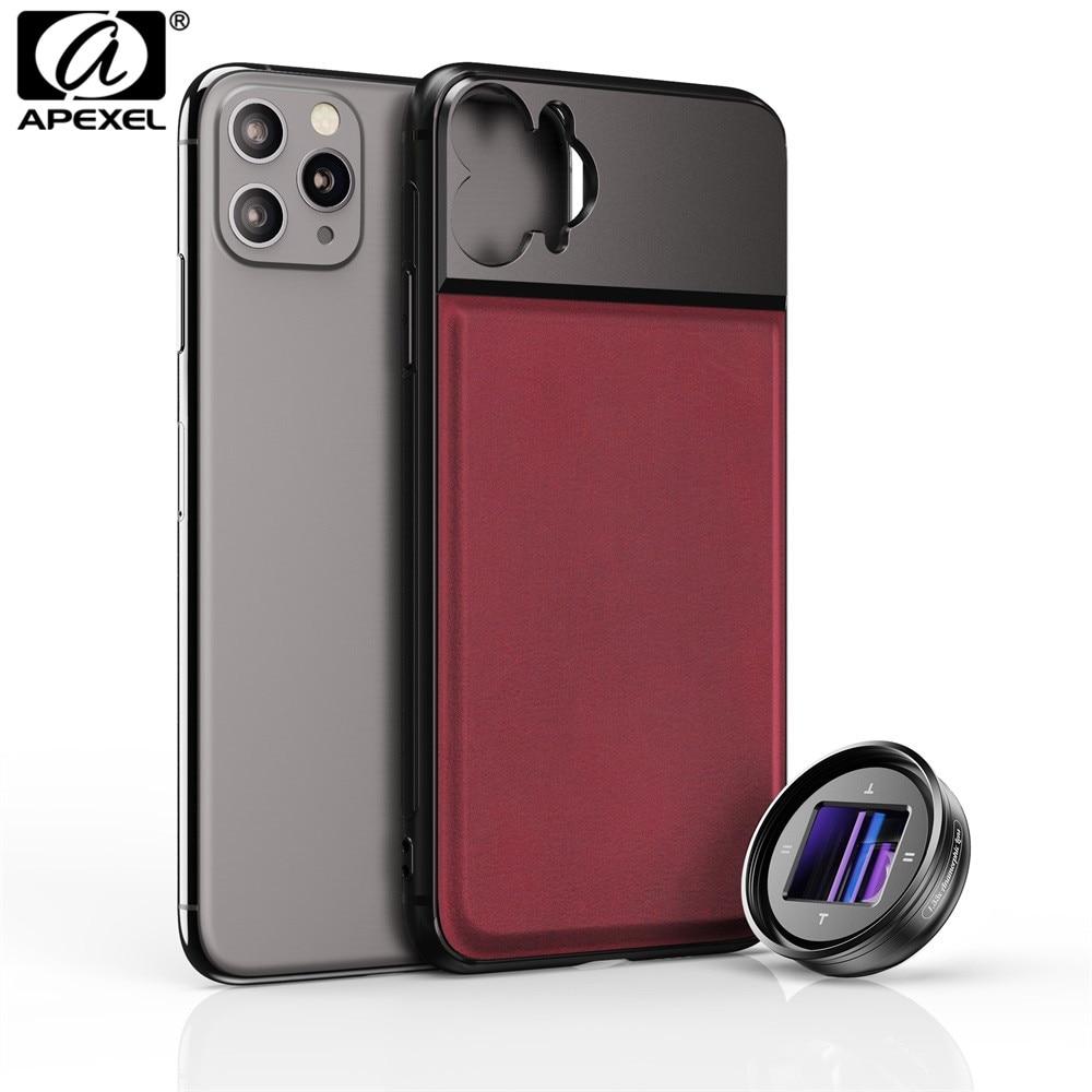 APEXEL Newest 1.33X Anamorphic Camera Mobile Lens 2.4:1 Widescreen Lens 4K HD Vlog Shooting Deformation Phone Cover + Lenses Kit