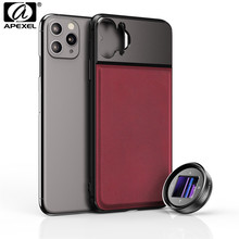 APEXEL lente anamórfica para cámara, lente para móvil 2,4: 1, 4K, HD, deformación de Vlog, cubierta para teléfono + Kit de lentes