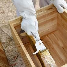 Çok fonksiyonlu arı araçları paslanmaz çelik başparmak tipi bal bıçak arı kovanı kazıyıcı arıcılık arı kazıyıcı kesim