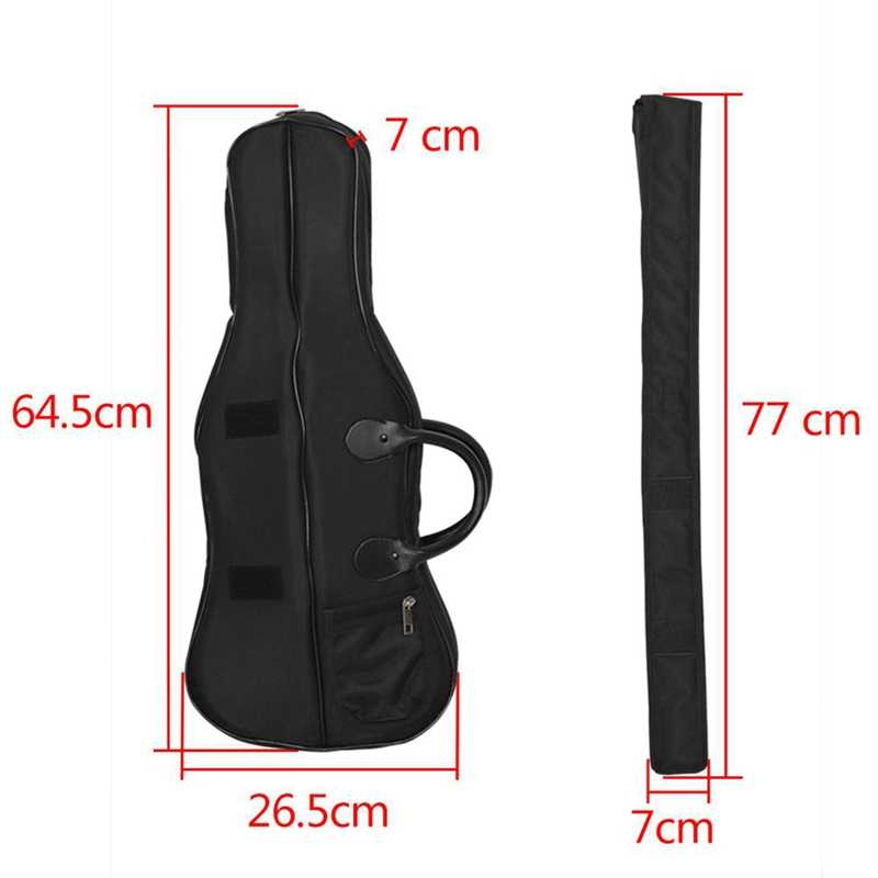 4/4 3/4 Full Size Violin Case Backpack Waterproof Carrying Bag with Shoulder Straps and Anti-Vibration Sponge Protect Violin Acc