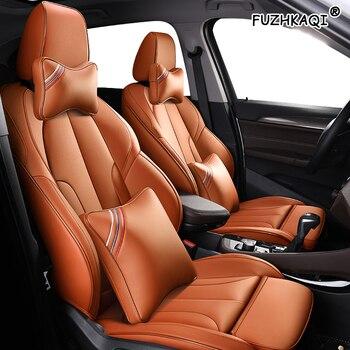 FUZHKAQI Make Custom Leather car seat covers For PEUGEOT 206 207 301 307 408 308 308s 508 3008 2008 4008 5008 407 607 car seats