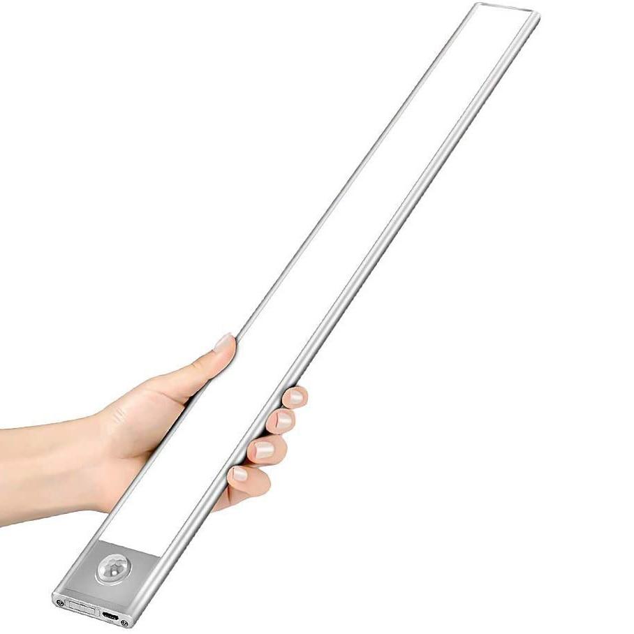 12/23/40CM LED Under Cabinet Light PIR Motion Sensor Lamp USB Rechargeable Bedroom Wardrobe Cupboard Closet Kitchen night light