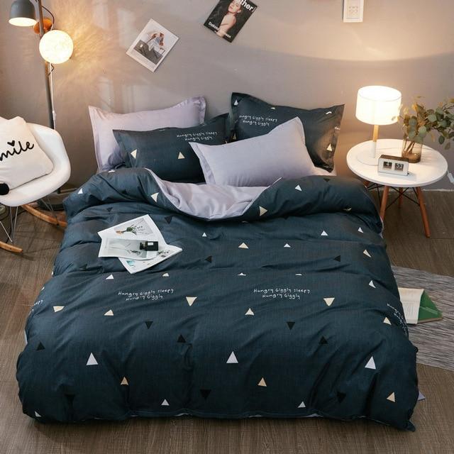 Nordic Bedding Set Green Triangle 25