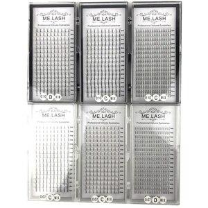 Image 1 - סיטונאי 10 מגשי 16 שורות מעורב 8 כדי 15mm Premade נפח לאש אוהדי פרימיום 3D 4D 5D ארוך גזע אוהדי הרחבות ריסי מינק