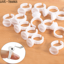 Wholesale 50/100Pcs Disposable Eyelash Extension Glue Rings,Eyelash Extension Glue Holder Holder glue container Tattoo Pigment