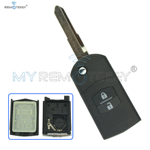 Hot sale flip key 2 button 434mhz with ID63 chip for Mazda remote key