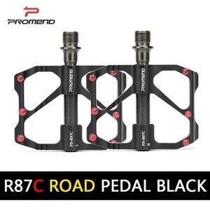 Image 3 - PROMEND Mtb דוושת שחרור מהיר כביש אופניים דוושת אנטי להחליק Ultralight אופני הרי דוושות פחמן סיבי 3 מסבים Pedale vtt