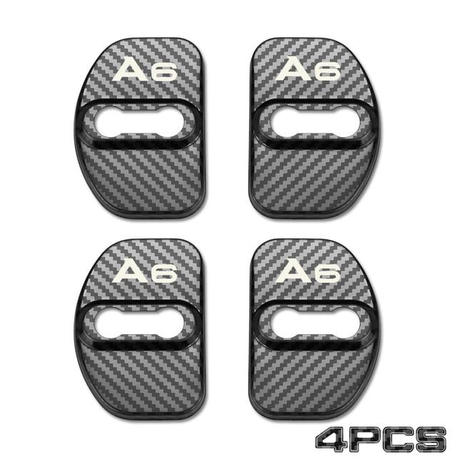 Color Name : Black Daojun Cerradura de la Puerta de Coche de Acero Inoxidable Cubierta de Parche Menaje for Audi A7 A4L A6L Q5 A3 Q3 Q7 TT A5 A8 Accesorios Car Styling
