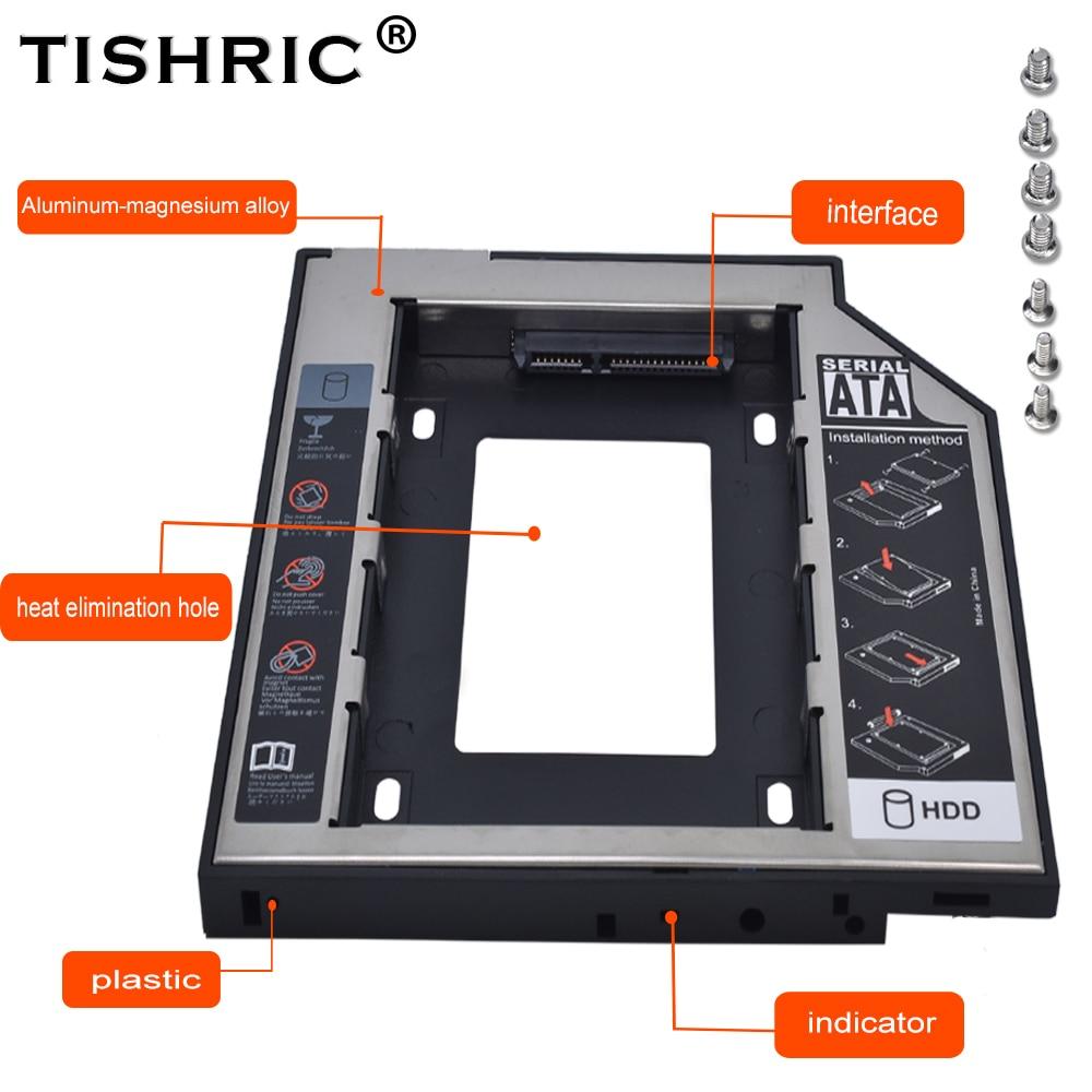 Tishric Plastic Aluminum 9.5mm SATA 3.0 HDD Caddy 2.5