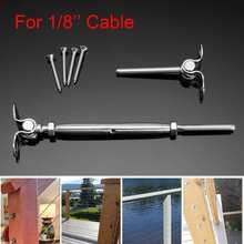 6 Set Of Stainless Steel Deck Toggle Tensioners for T316 1/8 inch Cable Railing System