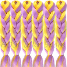Synthetic Hair Extensions Ombre Heat Resistant Braiding 100g/Pack 24Inch Afro Bulk Jumbo Crotchet Braids AOSIWIG
