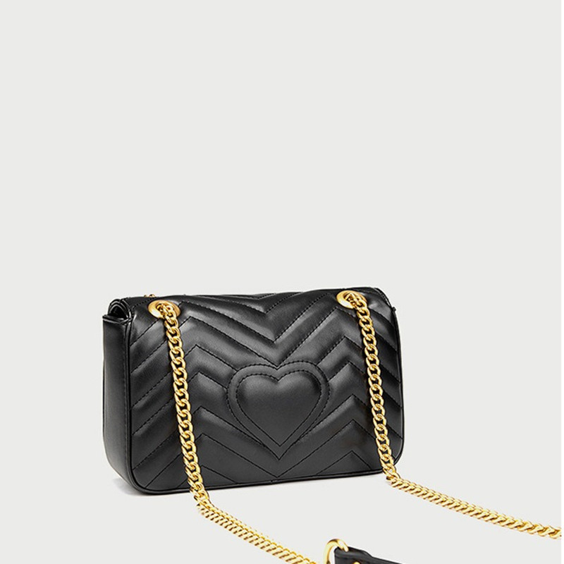 Womens Luxury Fashion Designer Quilted Shoulder Bag Chain Flap Crossbody Bag Handbag For Office Daily
