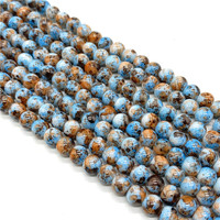 4/6/8/10mm Round Glass Beads Loose Spacer Beads For Jewelry Making DIY Bracelet Necklace #013