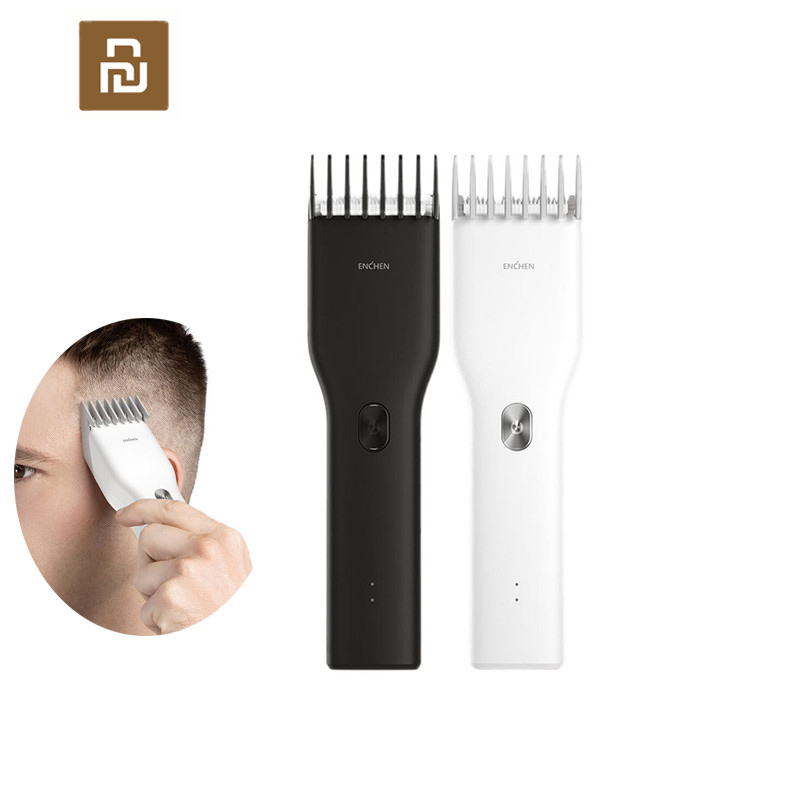 Youpin ENCHEN Boost USB Electric Hair Clipper Two Speed Ceramic Cutter Hair Fast Charging Hair Trimmer Children Hair Clipper