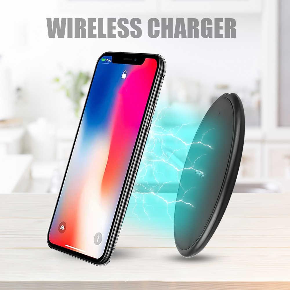 Cargador de teléfono inalámbrico rápido 10W para Samsung Galaxy S9/S9 + S8 S7 Note 9 carga rápida USB pad para iPhone XS Max XR 8X8 Plus