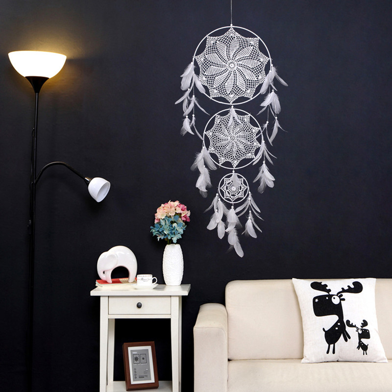 Big Size Dream Catcher Nordic Style Kids Room Decoration Dreamcatcher Home Decoration Wall Hanging Wind Chimes Bedroom Decor in Wind Chimes Hanging Decorations from Home Garden