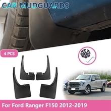 4PCS Car Mudflap for Ford Raptor F150 F-150 F 150 Fender Accessories Mud Guard Flap Splash Flaps Mudguards 2012-2019