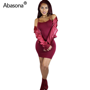 Abasona Sexy Black Bodycon Mini Dress Spaghetti Strap Stretch Summer Women 2020 Night Tight Dresses Party Ladies Casual Vestidos 4