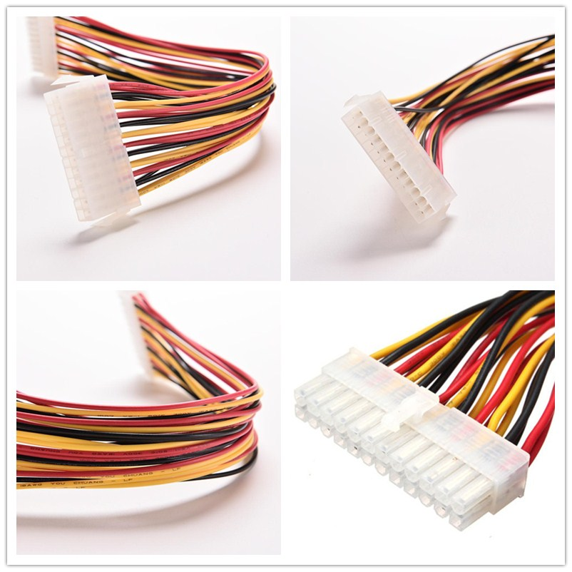 24Pin Power Extension Cable ATX PC PSU Male and Female Port M//F Expander 24.5CM Jun29 Professional Factory Price Other