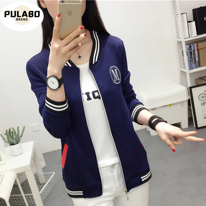 Women Fashion Baseball Jackets 2019 New Korean Fashion Letter Coat Women Youth Bomber Jackets Streetwear Baseball Uniform